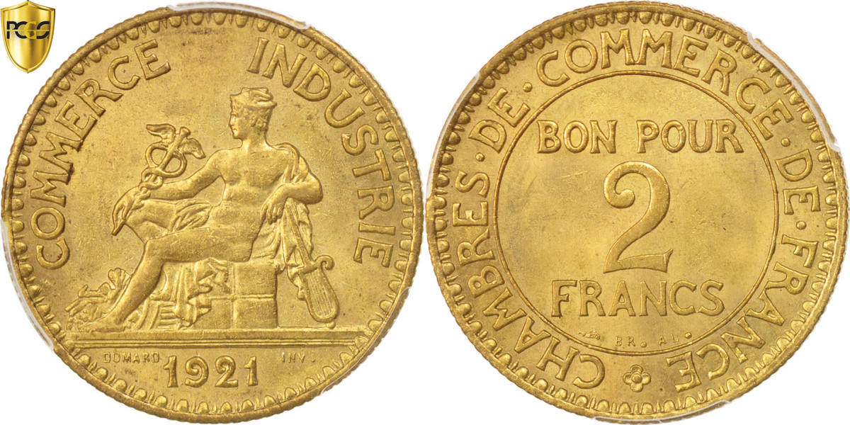 2 francs 1921 paris france coin chambre de commerce for Chambre de commerce polonaise en france